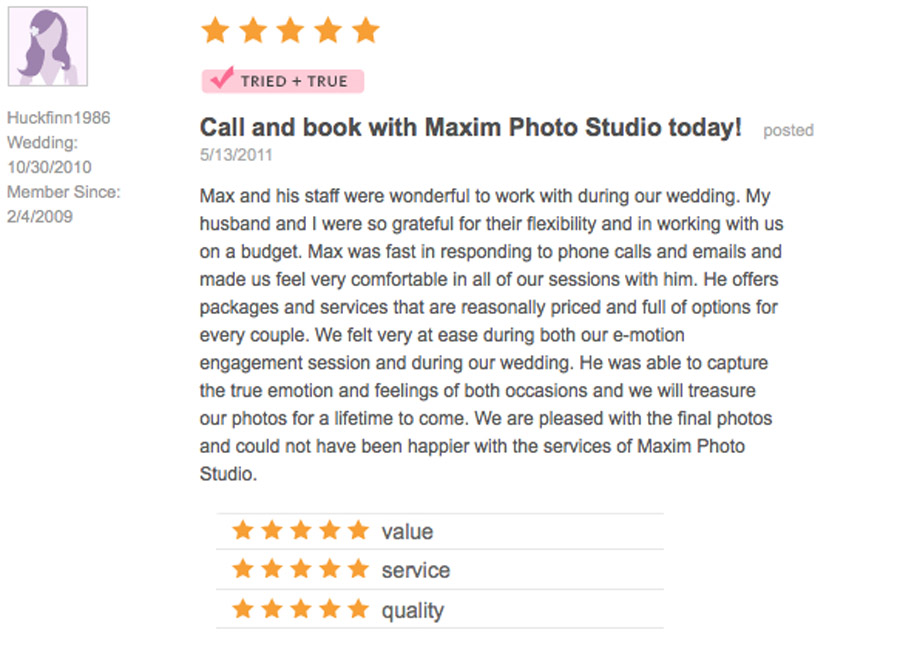 Best Wedding Photography Review