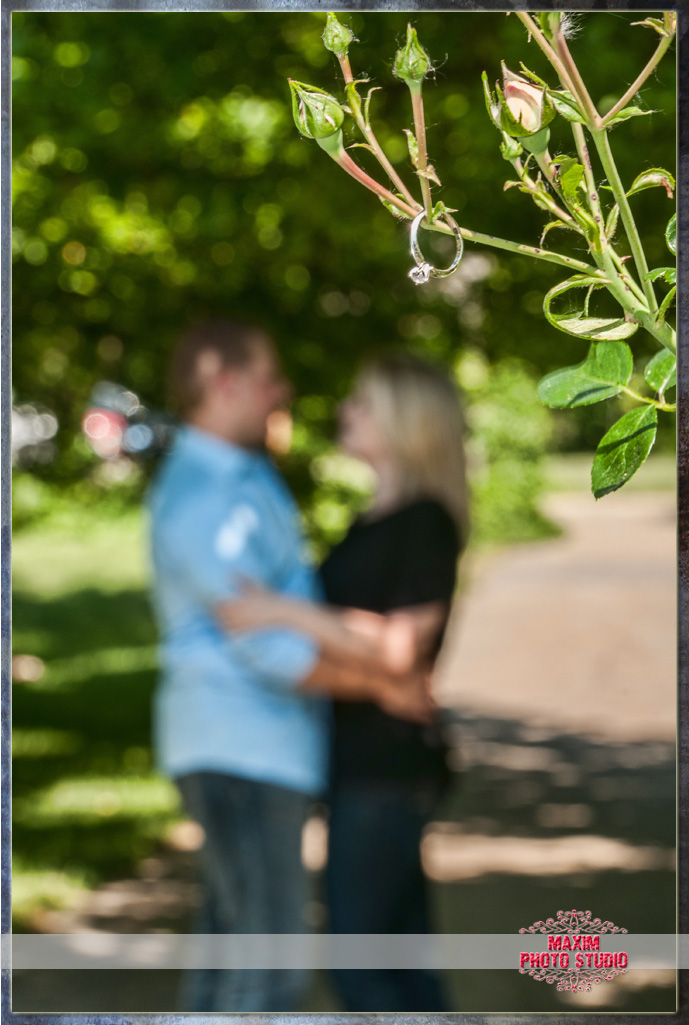 Maxim Photo Studio captured a great engagement at Park of Roses in Columbus