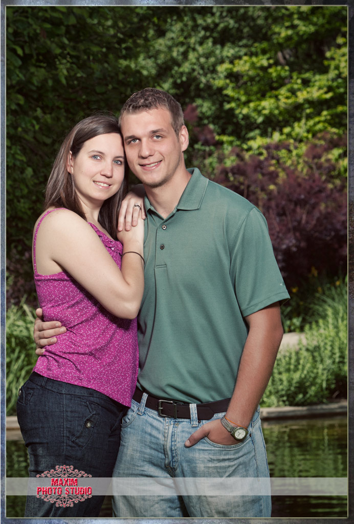 Maxim Photo Studio at Cincinnati Eden Park Engagement photo shoot