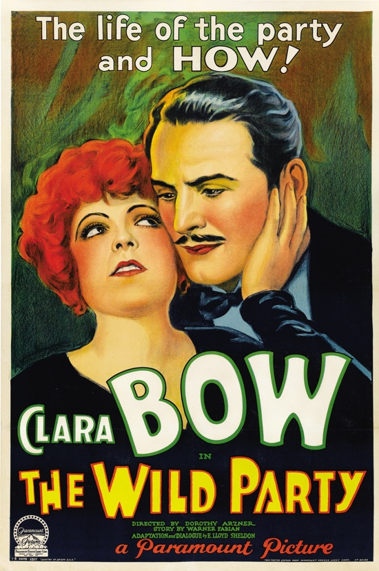 1920s_movie_poster_Clara_Bow_in_The_Wild_Party