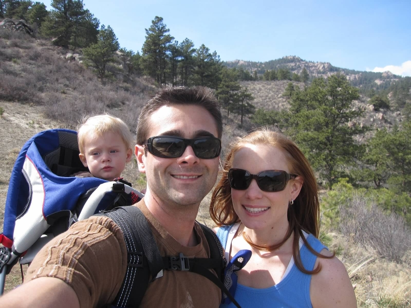 Hike to Horsetooth Falls in April 2010