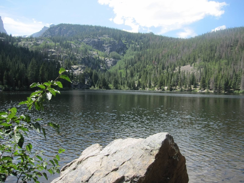 Bear Lake in Rocky Mountain National Park in August 2011