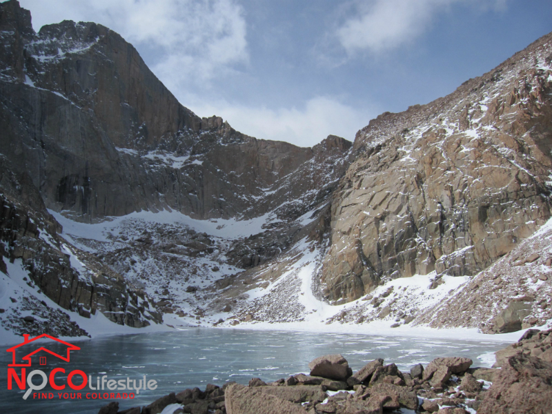 Chasm Lake in March 2013