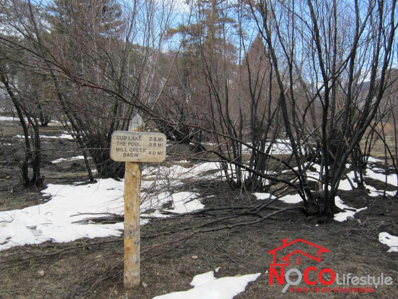 Hike to Cub Lake in April 2013