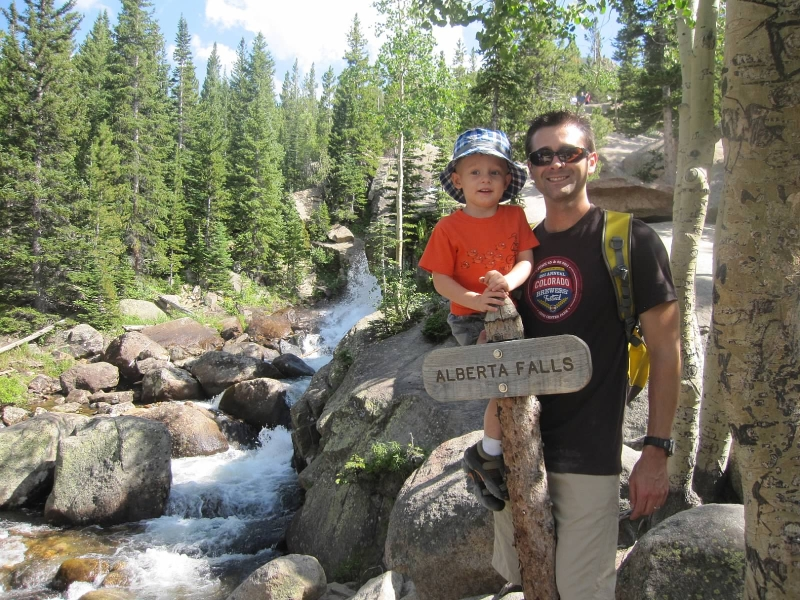 Alberta Falls in Rocky Mountain National Park in August 2011