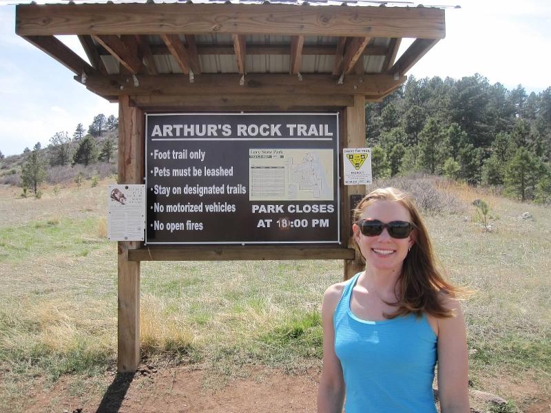Arthur's Rock Trailhead in April 2010