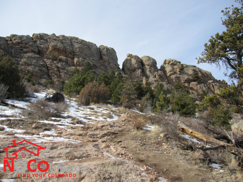 Horsetooth Rock in January 2013