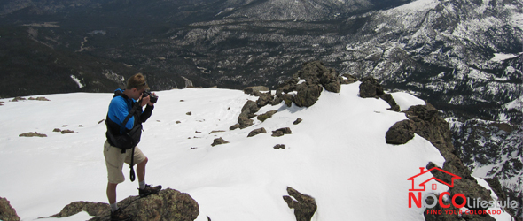 Ryan Levander on Flattop Mountain in May 2013