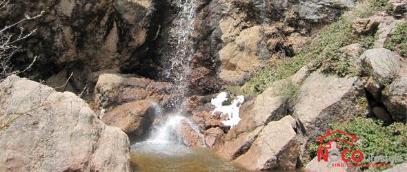 Horsetooth Falls in April 2013