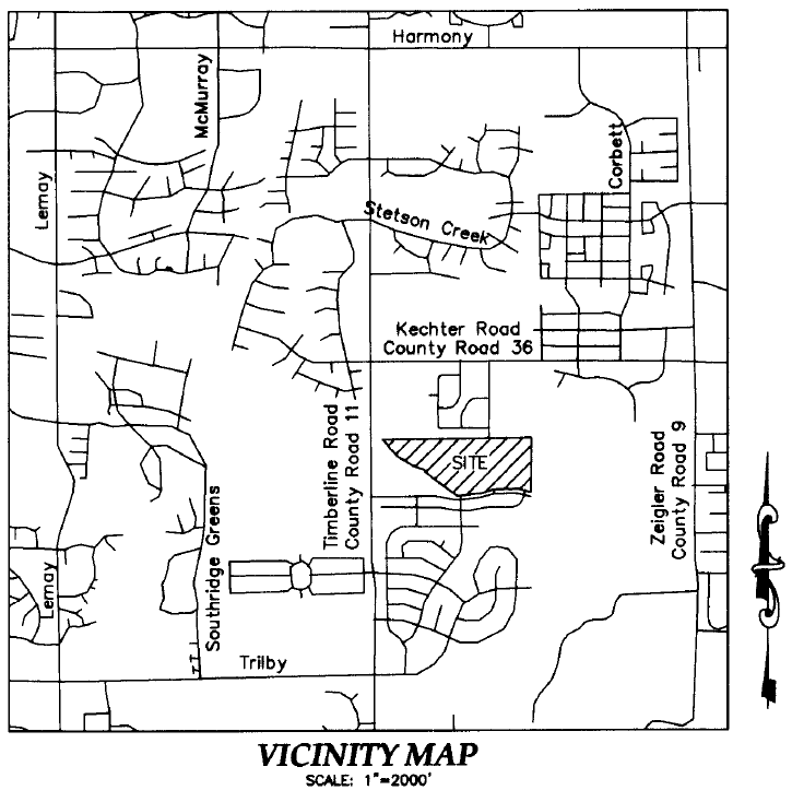 Fort Collins Vicinity Map of Mail Creek Crossing subdivision