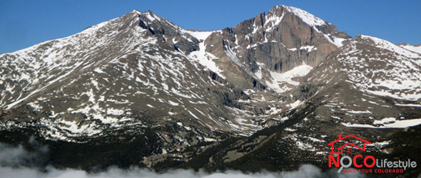 View of Long's Peak and Mount Meeker from Twin Sisters