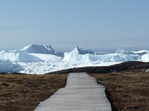 "A view of the ice fjord near Ilulissat, a UNESCO ""world heritage"" sites."