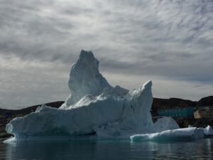 A weathered iceberg