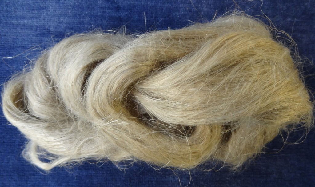 Flax roving ready for spinning