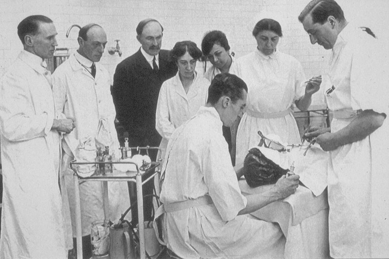 Black and white images reveal a time before medical standards were commonplace