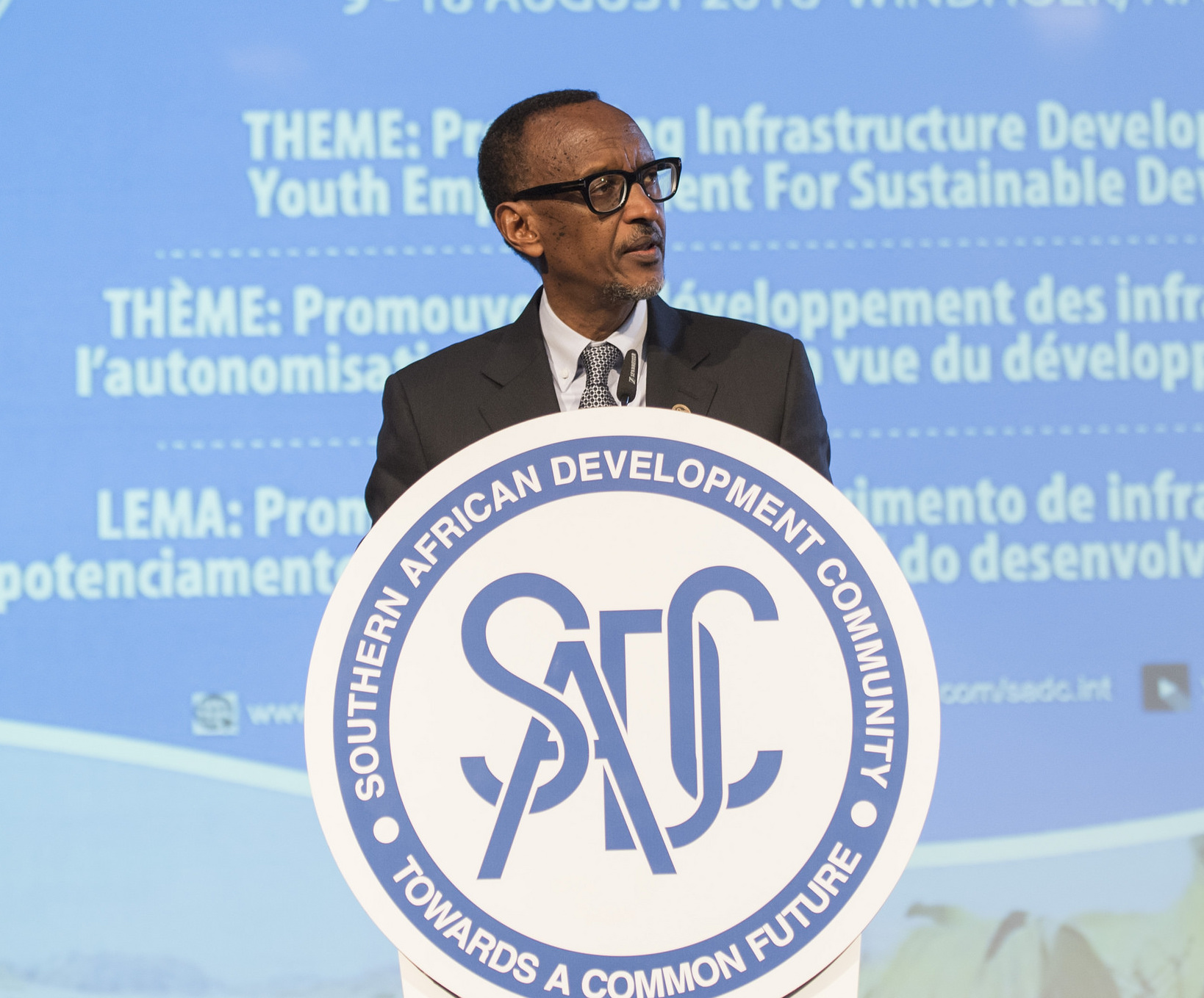President Kagame addressing the SADC summit in Windhoek on Friday 17th June 2018