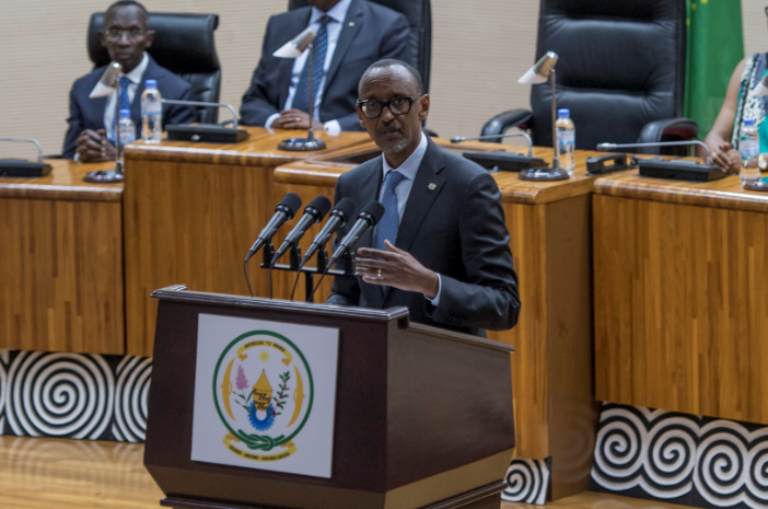 P Kagame officiated at the swearing-in of new Cabinet members, heads of National Police