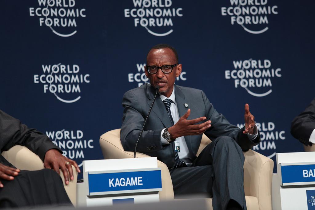 P.Kagame attends the World Economic Forum in Devos