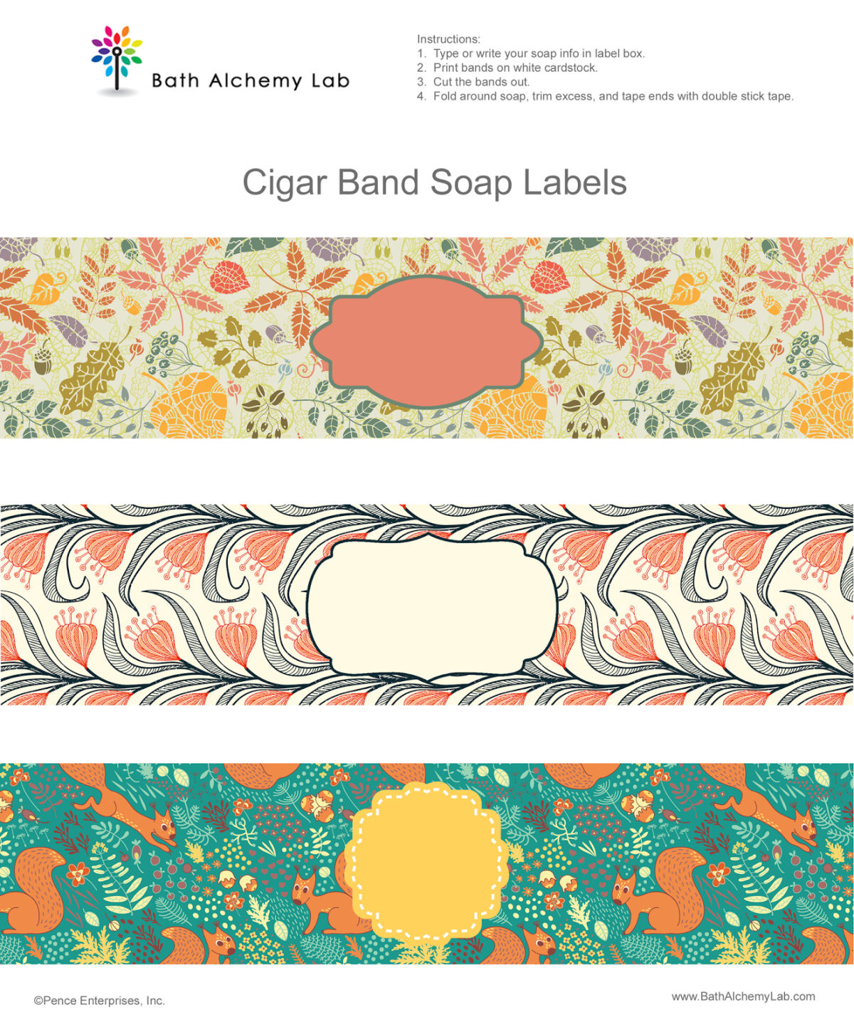 Free Soap Cigar Band Label Wrappers Fall Designs