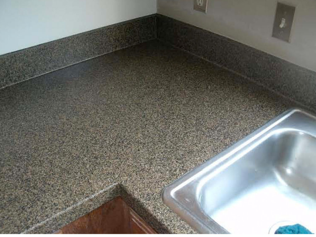 Resurfacing formica damaged countertop, after