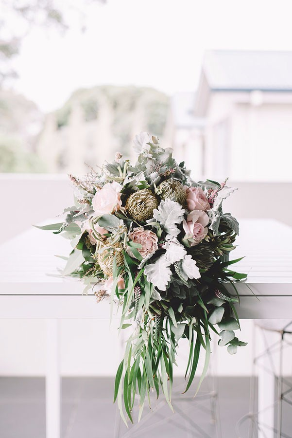 Banksia, Eucalypt and Rose Bouquet