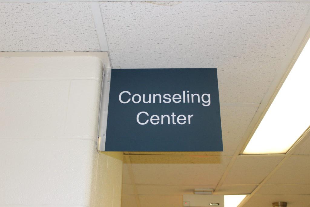 Counseling Center Sign