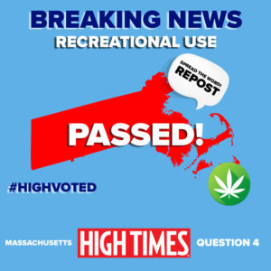 Massachusetts just became the first state on the East Coast to legalize marijuana!