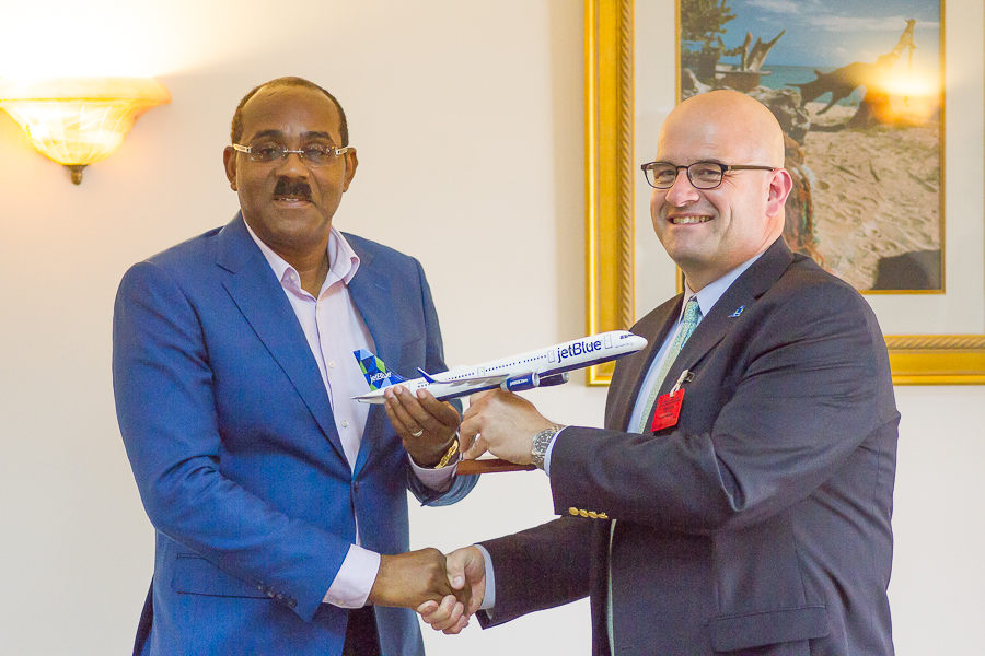 Jet Blue Meeting with The Hon. PM of Antigua and Barbuda
