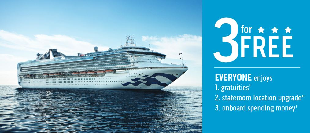 Everyone Enjoys 3 for FREE Sale with Princess Cruises!