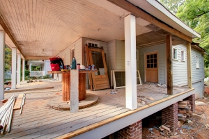 Front Porch of Mangum St Renovation