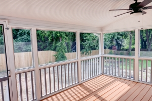Covered screened porch View- Elizabeth St New Construction in Durham