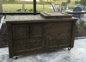 dark-wood-cooler-table-patio-cooler-drawers-cabinet-ice-chest