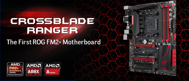 ASUS Republic of Gamers anuncia el motherboard Crossblade Ranger