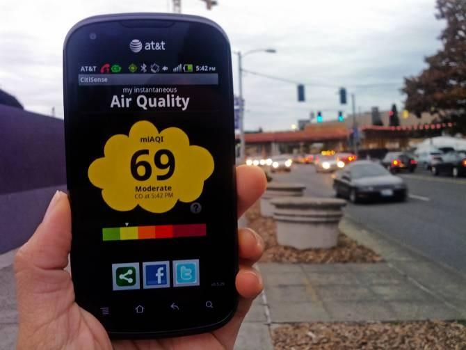 Sensor en smartphone que detecta la contaminación del aire