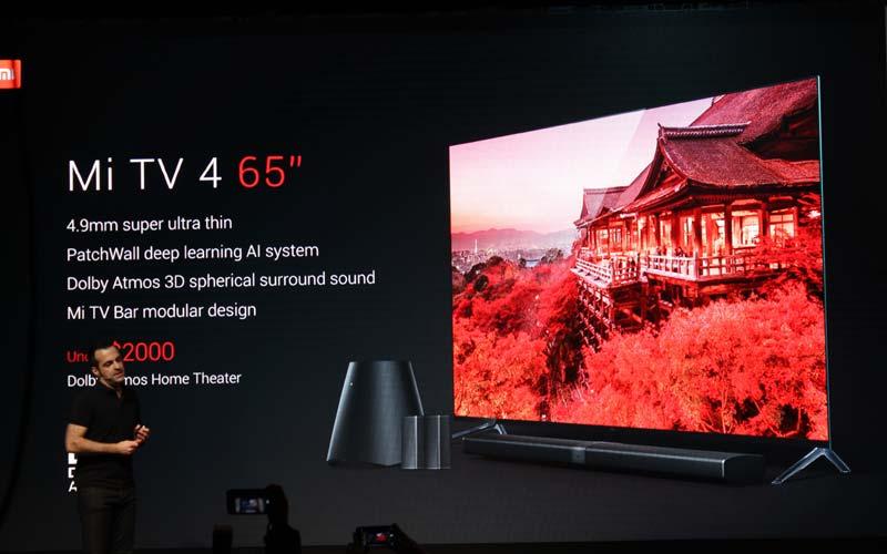 Xiaomi presente en el CES 2017 con un TV ultradelgado