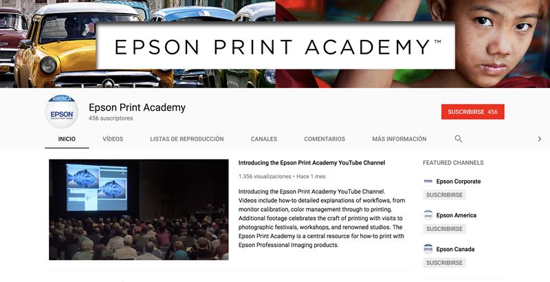Epson lanza Print Academy su nuevo canal de YouTube