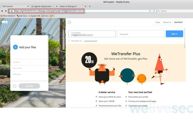 ESET identifica correos falsos con supuestos archivos vía WeTransfer