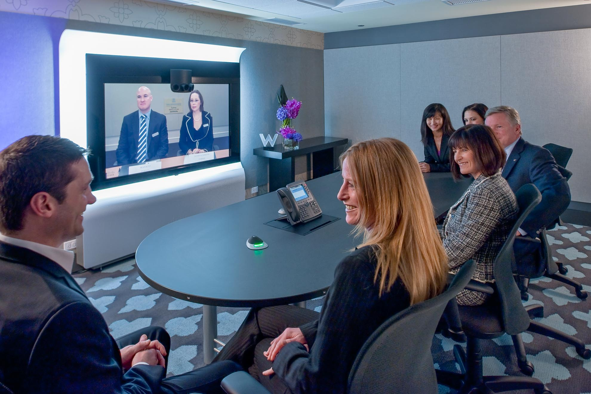 Participants of a corporate teleconference