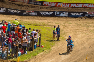 A mechanical cost Musquin his chance at the title two laps into the first moto. Pic: Cudby