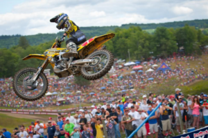 Jeremy Martin only has a two point lead over Marvin Musquin. Pic: Cudby