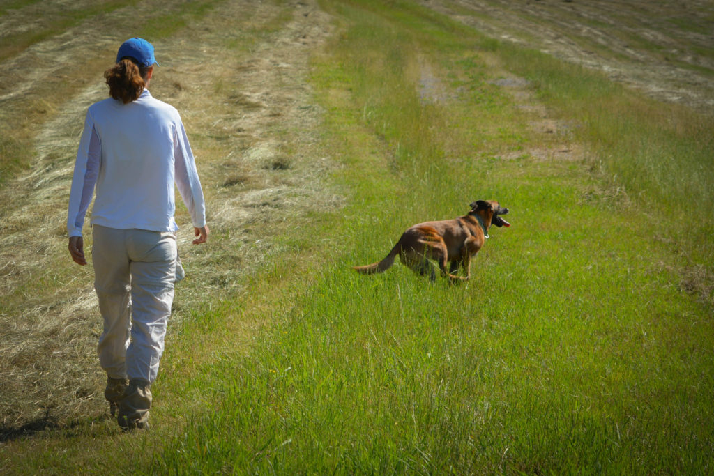 Kenny and Sadie in field