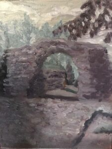 Grays: Mayan Ruins: 11 x 14 Oil