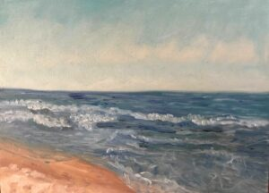 Plein Air Painting at the Beach: 11 x 14 Oil