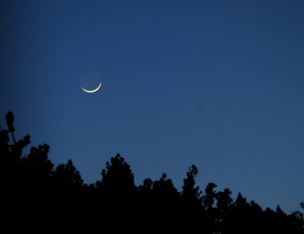 a silver sliver moon...