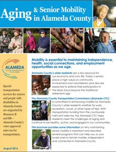 Cover of the Aging and Senior Mobility brochure.