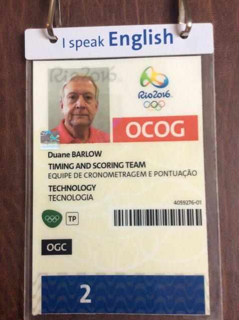 Duane's Olympic Credentials