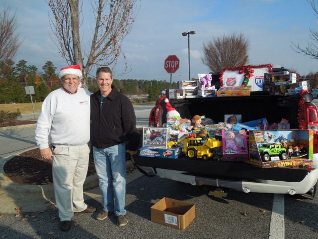 Rick, Promoter of Wake Forest Cars and Coffee with a truckload of toys collected
