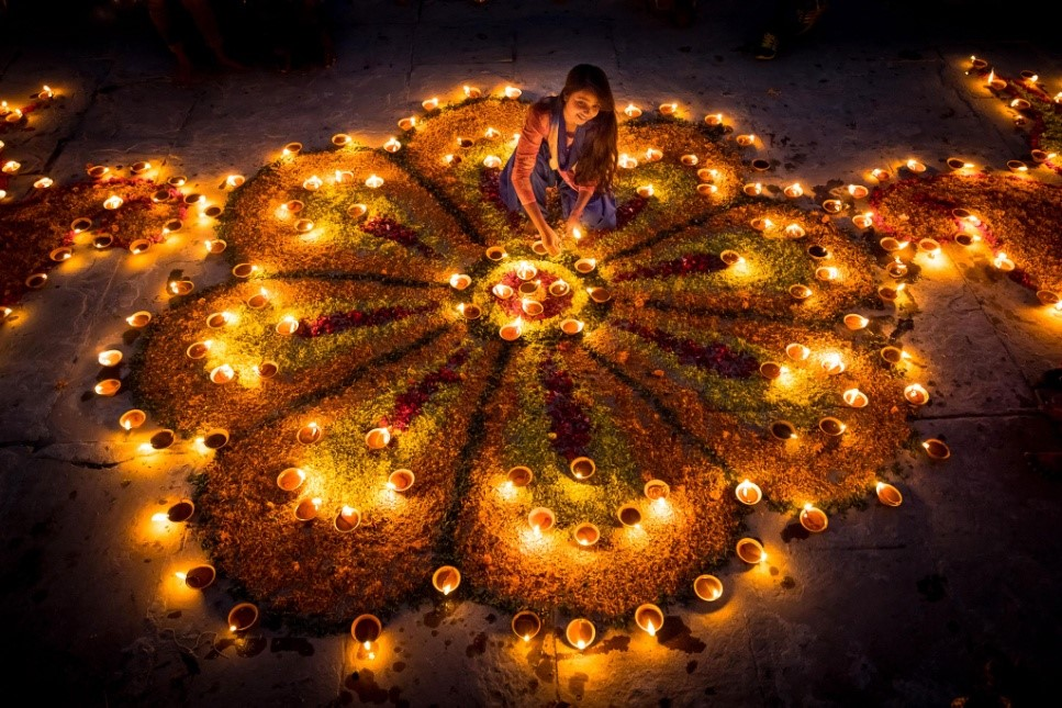 Clay Lamps or Diya (PC - National Geographic)