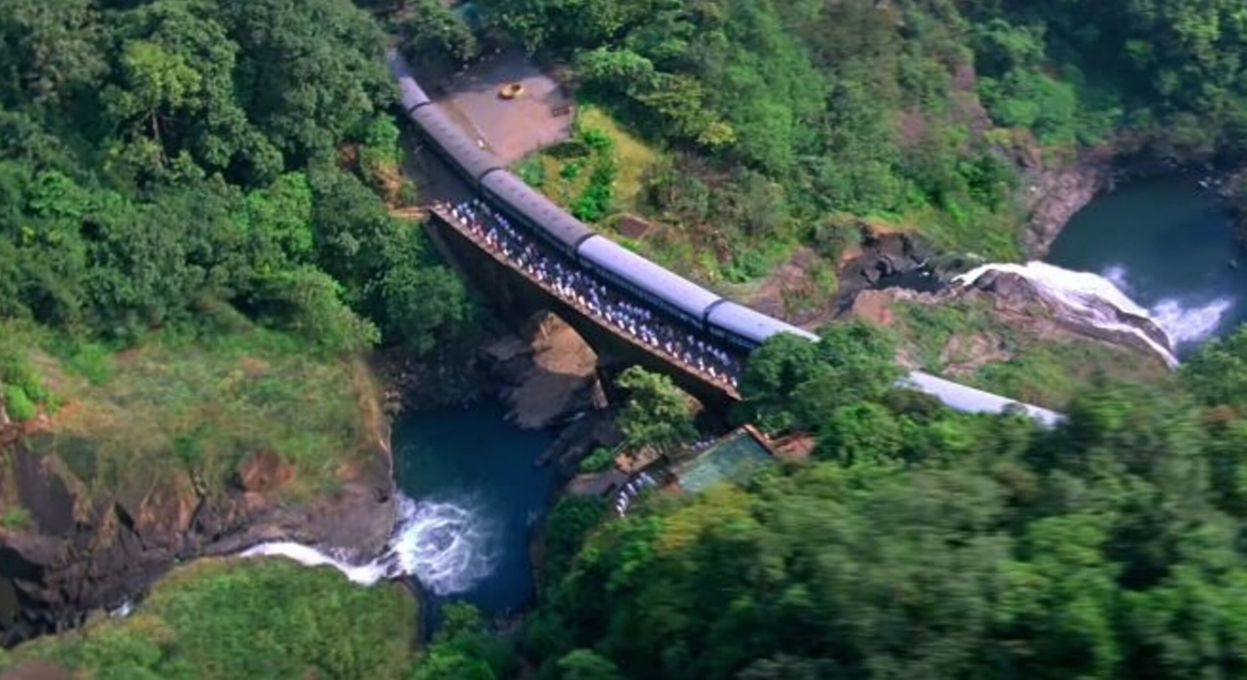 Aerial View of Dudhsagar Falls
