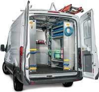 J&B can upfit your van with Ranger Design van equipment accessories. Van accessories have always provided the finishing touch that makes the difference between a regular upfit and the type of upfit that gives you what you need to perform at your peak efficiency. Customize your vehicle with our wide range of options and prove the benefit of having everything where you need, when you need it! For more information regarding this line of van accessories please call our sales team at 800-330-1229.